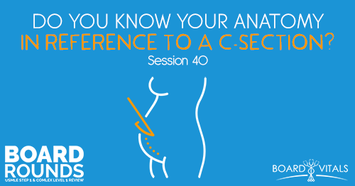 BR 40: Do You Know Your Anatomy in Reference to a C-Section?